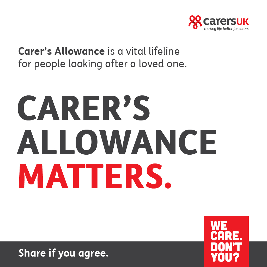 Facebook Carers Allowance matters