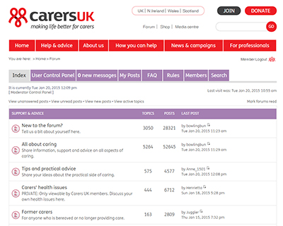 Carers UK forum - Carers UK