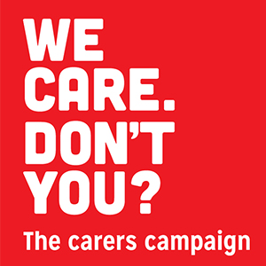 We care campaign logo