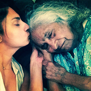 Rakhee with her granny